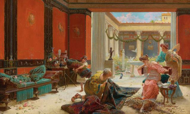 «Продавец ковров», Мариано Фортуни — описание картины