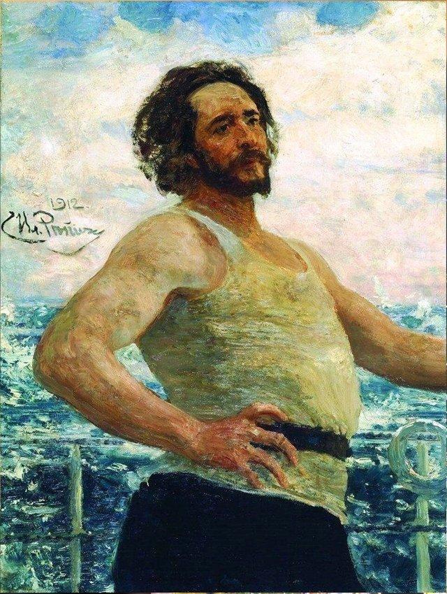 Портрет Андреева, Репин, 1904