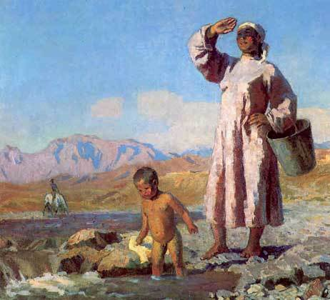 Утро в горном селении, Семен Афанасьевич Чуйков, 1967