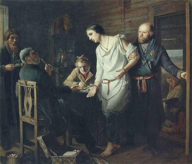 Картина «Сцена на могиле», Перов — описание