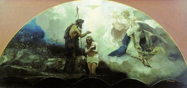 «Христос в доме Марии и Марфы», Фридрих Овербек — описание картины