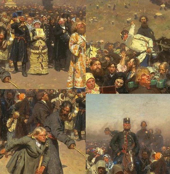 Крестный ход в Курской губернии, Репин
