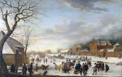 «Зимний пейзаж», Хендрик Аверкамп — описание картины