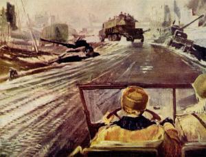 Картина Новая Москва, Ю. И. Пименов, 1937