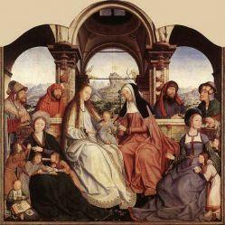 Картина Меняла с женой, Квентин Массейс