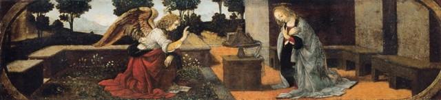 Благовещение, Леонардо Да Винчи, около 1472