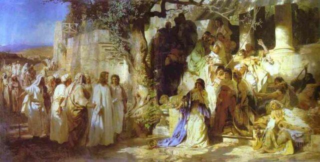 «Блудница перед Христом», Джорджоне — описание картины
