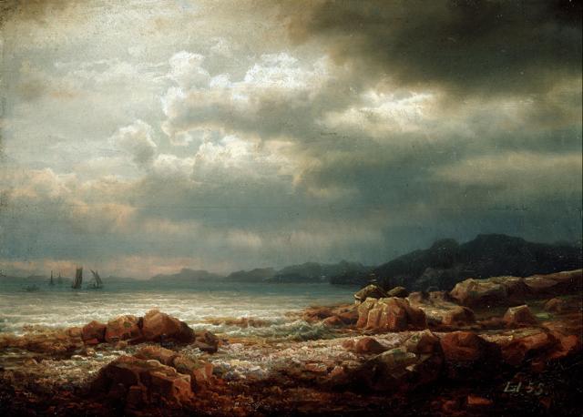 «Лесное озеро», Ларс Хертервиг — описание картины