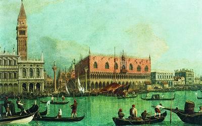 Перспектива с портиком, Антонио Каналь (Каналетто), 1765