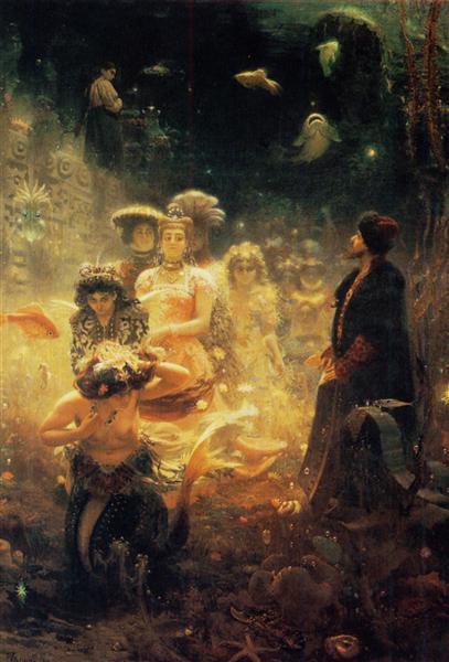 Украинская хата, Илья Ефимович Репин - описание картины