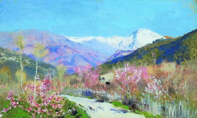 «Весна в Италии», Исаак Ильич Левитан — описание картины