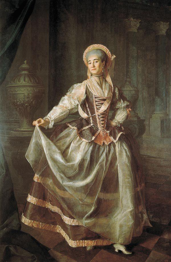 Портрет Хрущовой и княжны Хованской, Левицкий — описание
