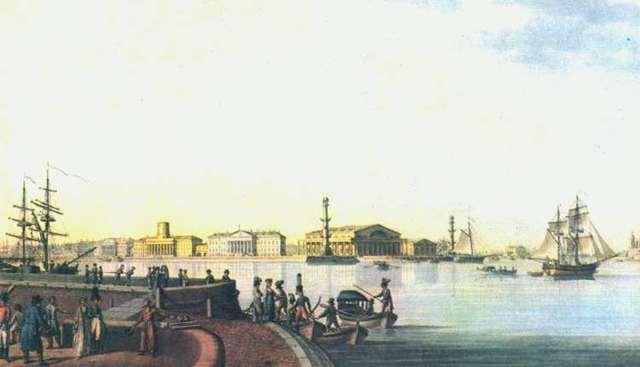 Исаакиевский собор и памятник Петру i, М. Н. Воробьев, 1844