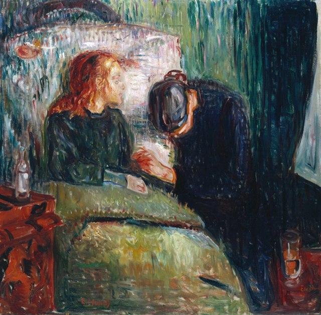 «Ночь в Сен-Клу», Эдвард Мунк — описание картины