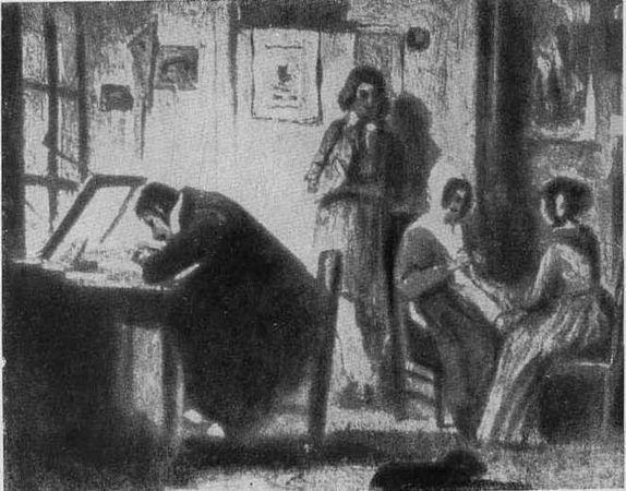 «Законодательное чрево», Оноре Домье — описание