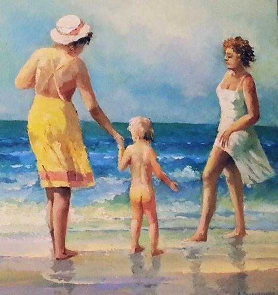 «Прогулка у моря», Хоакин Соролья — описание картины