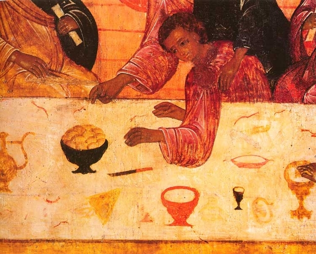Тайная вечеря, Репин - описание картины