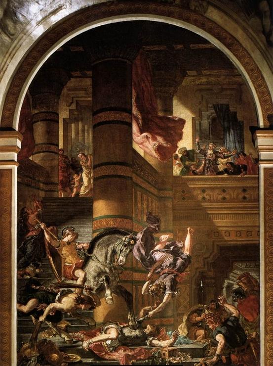 «Вступление крестоносцев в Константинополь», Эжен Делакруа — описание картины