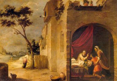 «Натюрморт с поставцом», Антонио Переда — описание картины