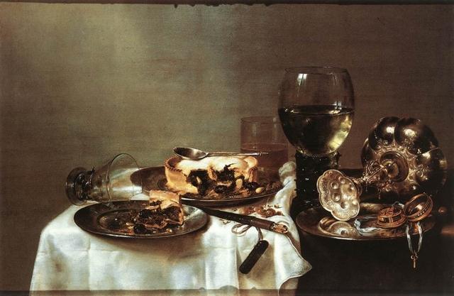 Завтрак с черничным пирогом, Виллем Клас Хеда, 1631