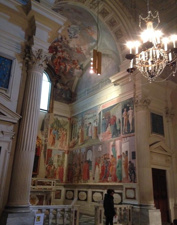 Мадонна с Младенцем, святой Анной и ангелами, Мазолино Да Паникале и Мазаччо