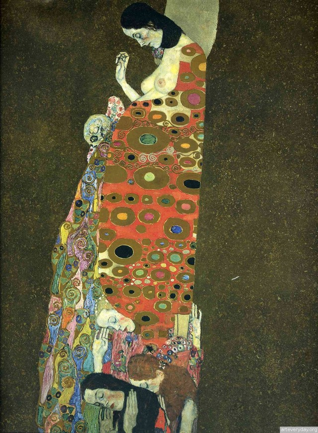 Даная, Густав Климт - описание картины