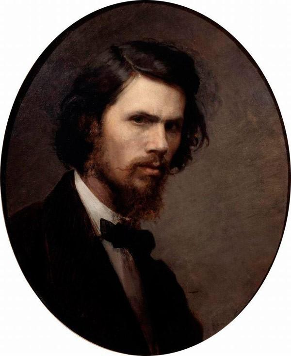 Портрет философа Соловьёва, Крамской, 1885