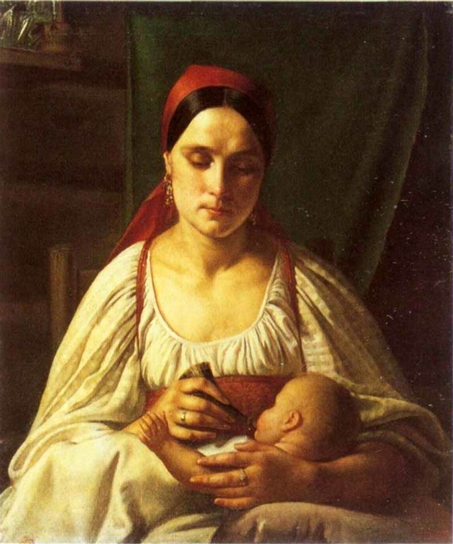 Зимний пейзаж (Русская зима), Никифор Степанович Крылов, 1827