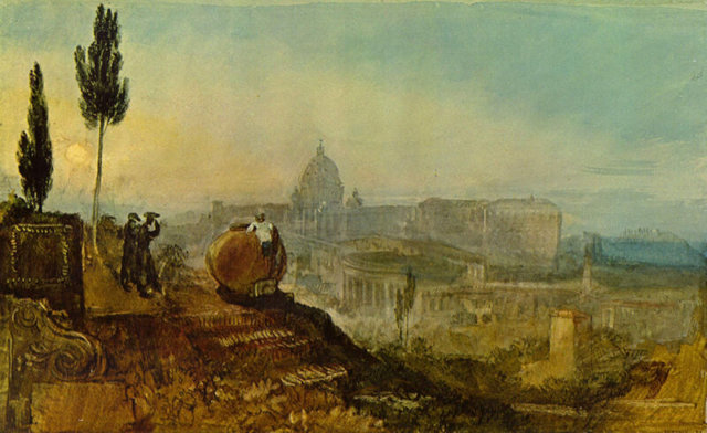 Современный Рим-Кампо Ваччино, Уильям Тёрнер - описание
