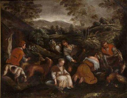 «Ужин в Эммаусе», Якопо Бассано — описание картины