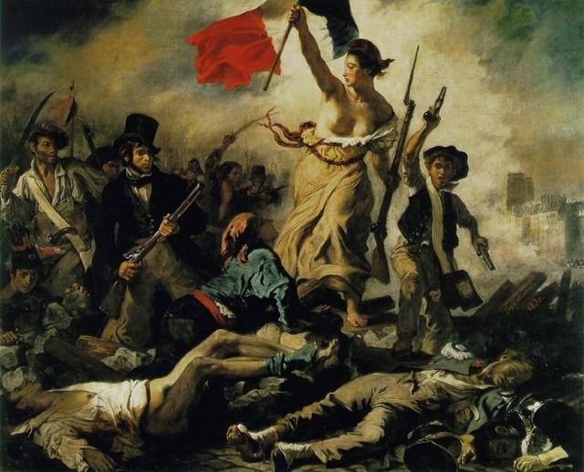 Свобода на баррикадах (Свобода, ведущая народ), Делакруа, 1830