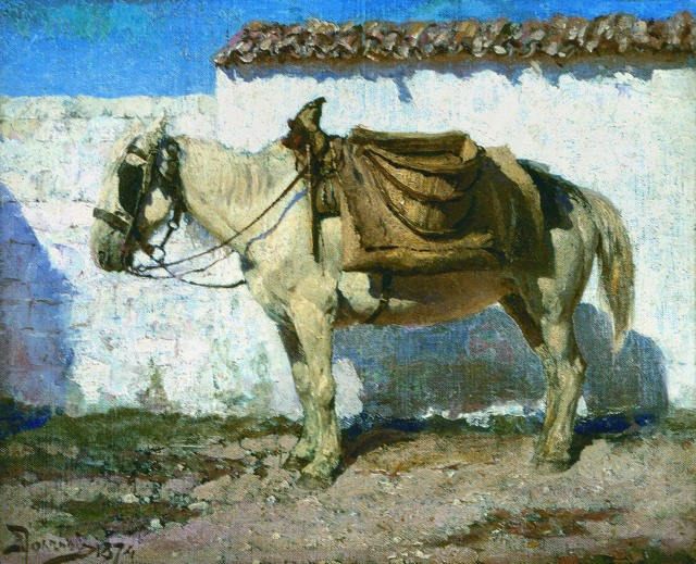 Белая лошадка. Нормандия, Василий Дмитриевич Поленов
