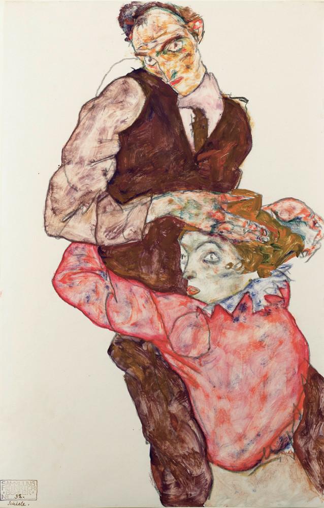Автопортрет - Эгон Шиле, 1914