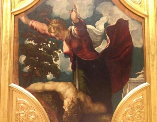 Мадонна с тремя казначеями, Якопо Тинторетто