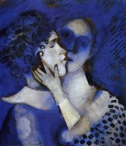 Зеленые любовники, Марк Шагал - описание картины