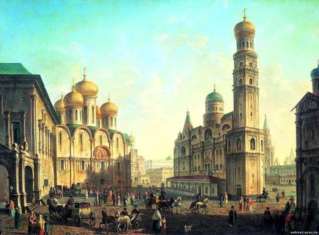 «Вид Дворцовой набережной от Петропавловской крепости», Алексеев — описание картины