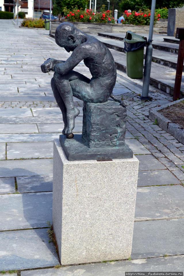 «По фьорду», Ханс Даль — описание картины