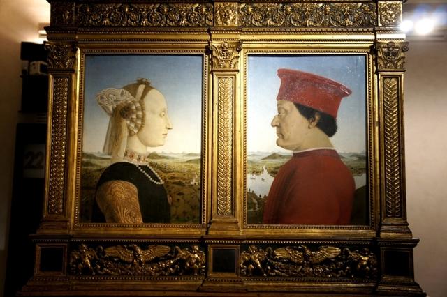 Портреты Федерико да Монтефельтро Урбинскоrо и Баттисты Сфорцы, Пьеро Делла Франческа, 1465