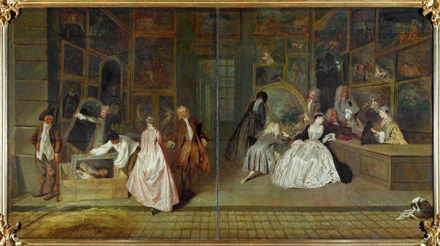 Вывеска лавки Жерсена, Антуан Ватто - описание картины