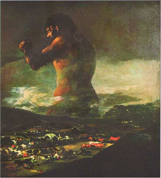 Колосс (Паника), Франсиско де Гойя