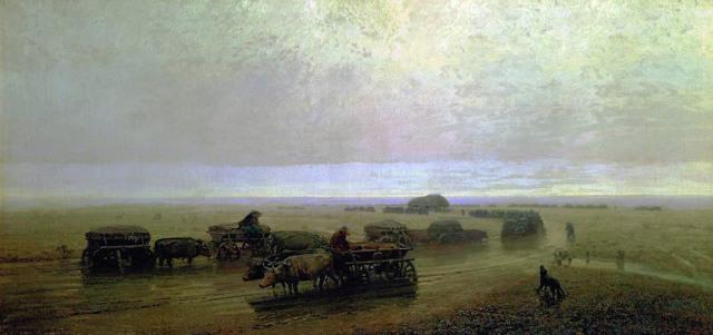 «Красный закат», Архип Иванович Куинджи — описание картины