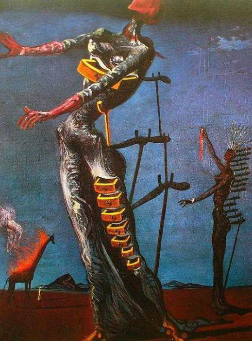 Лицо войны, Сальвадор Дали - описание картины