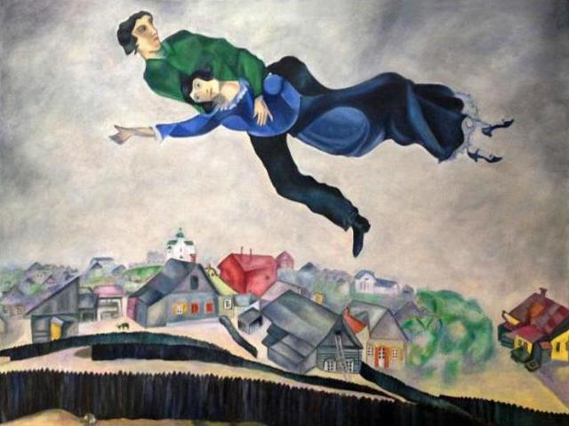 Я и деревня, Марк Шагал - описание картины