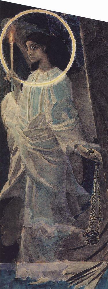 Богоматерь с Младенцем, Михаил Врубель, 1885