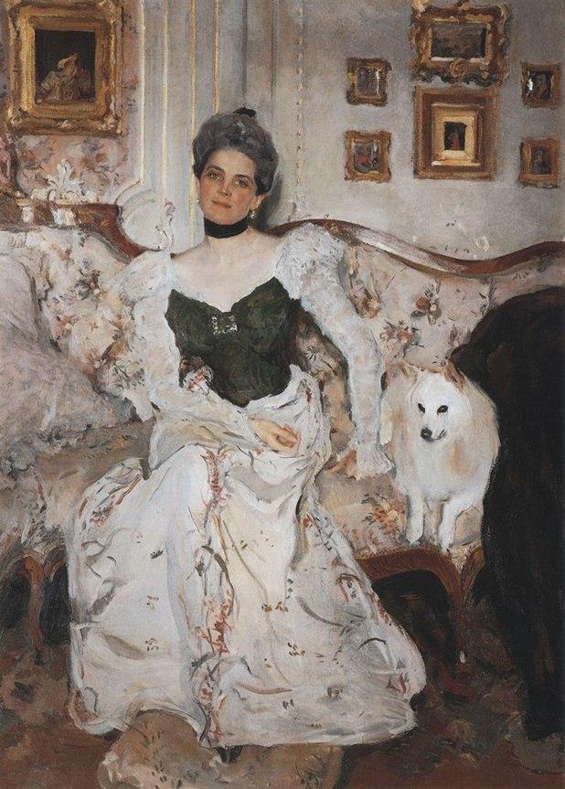 Портрет графа Сумарокова-Эльстон с собакой, В. А. Серов, 1903