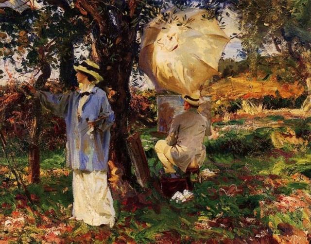 «Гвоздика, лилия, лилия, роза», Джон Сингер Сарджент — описание картины