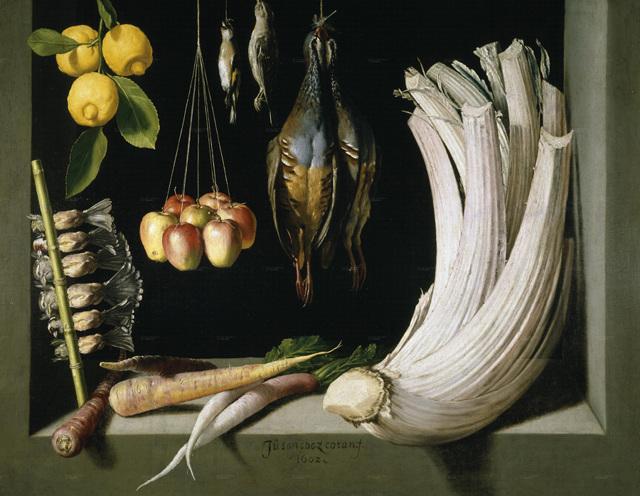 Натюрморт с дичью, овощами и лимонами, Санчес Хуан Котан, 1602
