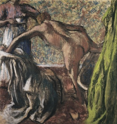 Причесывающаяся женщина (Женщина за туалетом) - Э. Дега