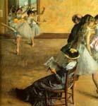 Балетный класс, Эдгар Дега, 1881