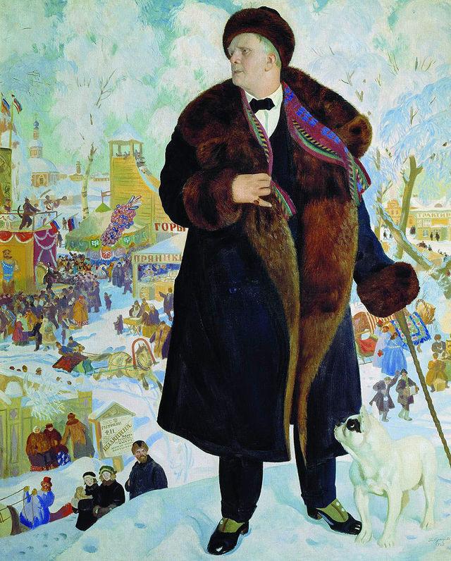 Купчиха за чаем, 1918, Кустодиев - описание картины